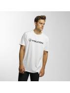 Volcom T-Shirts Line Euro Basic beyaz