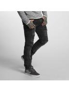 VSCT Clubwear Облегающие джинсы Keno Heavy Destroyed серый