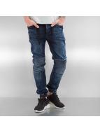 VSCT Clubwear Облегающие джинсы Nano Cuffed синий