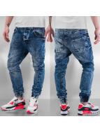VSCT Clubwear Noah Cuffed Anti Fit Jeans Blue Washed