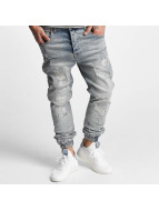 VSCT Clubwear Noah Cuffed Jeans Totally Destroyed Blue