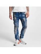VSCT Clubwear Ryder Biker Luxury Jeans Vintage Blue Stoned