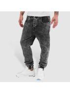 VSCT Clubwear Noah Slim Anti Fit Cuffed Jeans Black Moonwash