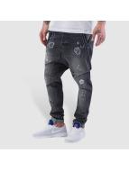 VSCT Clubwear Brad Slim Supenders Jeans Grey Vintage