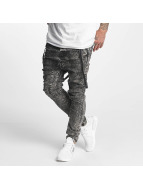 VSCT Clubwear Brad with Suspenders Jeans Black Moonwash Jeans