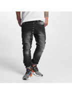 VSCT Clubwear Drake Asym Buttonfly Jeans Black Rinsed