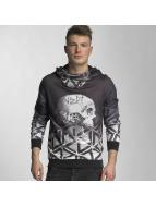 VSCT Clubwear Bluzy z kapturem Twisted Skull Matix czarny
