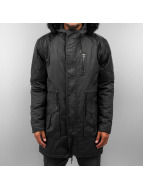 VSCT Clubwear Coats Coated Hooded black