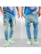 VSCT Clubwear Brad with Suspenders Jeans Sunfaded Destoyed