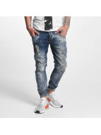 VSCT Clubwear Jean carotte antifit Hank Twisted bleu