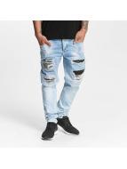 VSCT Clubwear Hank Bleached Customized Jeans Blue