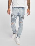 VSCT Clubwear Jean carotte antifit New Liam Biker Denim bleu