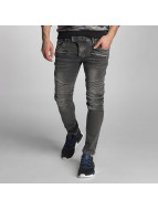 VSCT Clubwear Jean carotte antifit Liam Biker gris