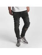 VSCT Clubwear Jean carotte antifit Thor Biker Kneecut Slim gris