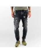 VSCT Clubwear Jean coupe droite Noah Biker noir