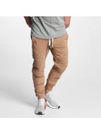 VSCT Clubwear joggingbroek Destroyed Biker bruin