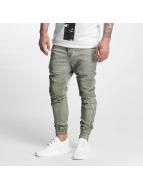 VSCT Clubwear Látkové kalhoty Noah Biker hnědožlutý