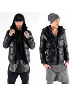 VSCT Clubwear leren jas Padded Leather zwart