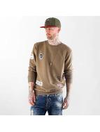 VSCT Clubwear Maglia Customized Patch Crew cachi