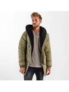 VSCT Clubwear Double-Zipper Huge Luxury Sherpa Parka Khaki