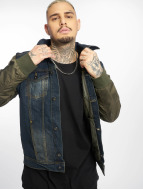 VSCT Clubwear Bomber Sleeves Denim Jacket Denim Khaki