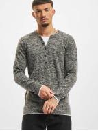 VSCT Clubwear Pitkähihaiset paidat Buttoned Double Optic harmaa