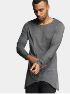 VSCT Clubwear Pitkähihaiset paidat Longshirt Oilwash harmaa