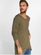VSCT Clubwear Pitkähihaiset paidat Longshirt Oilwash khakiruskea
