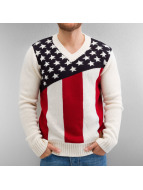 VSCT Clubwear Pullover Stars N Stripes blanc