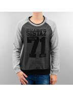 VSCT Clubwear Pullover BKLYN Sistaz Mesh grau