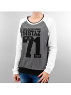 VSCT Clubwear Pullover BKLYN Sistaz Mesh weiß