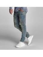VSCT Clubwear Skinny Jeans Liam Biker modrý