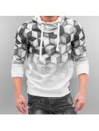 VSCT Clubwear Sweat à capuche 3D White Geomatrix gris
