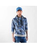 VSCT Clubwear Sweat à capuche Twisted Geomatrix indigo