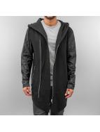 VSCT Clubwear Sweat à capuche zippé Asymetic Luxury Sweat noir
