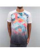 VSCT Clubwear T-Shirt Geo Maze Fade weiß