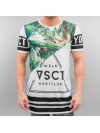 VSCT Clubwear T-Shirt Palms Triangle Mix weiß