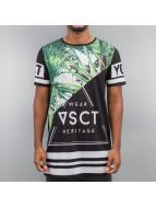 VSCT Clubwear t-shirt Palms Triangle Mix zwart