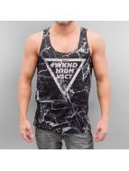 VSCT Clubwear Tank Tops Black Marble Tank musta