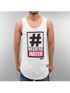 VSCT Clubwear Tank Tops Hashtag Hater weiß