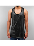 VSCT Clubwear Tanktop Allover Leathermesh zwart