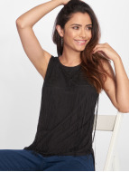 VSCT Clubwear top Fringes zwart
