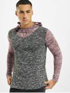 VSCT Clubwear Trøjer 2 Btn Hooded Moulinee 2 Colour rød