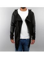 VSCT Clubwear Transitional Jackets Hooded Asymmetric svart