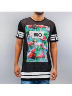 VSCT Clubwear Tričká Flamingo Bro Oversize èierna