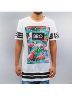 VSCT Clubwear Tričká Flamingo Bro Oversize biela
