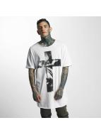VSCT Clubwear Tričká Cross Palm Loose biela
