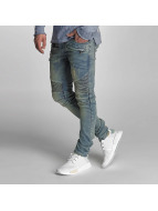 VSCT Clubwear Liam Biker Zip Pocket Jeans Sand Blue Vintage