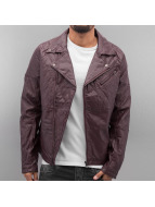 VSCT Clubwear Biker Leather Jacket Bordeaux