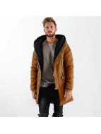 VSCT Clubwear Winterjacke Double-Zipper Huge Luxury Sherpa braun